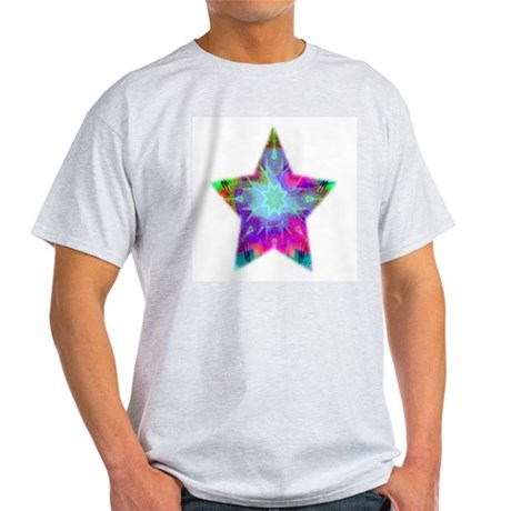 Colorful Star Ash Grey T-Shirt