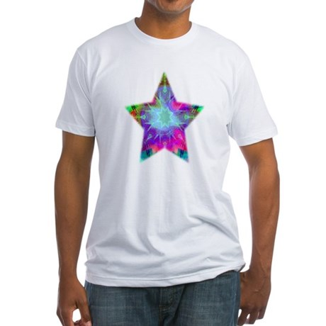 Colorful Star Fitted T-Shirt