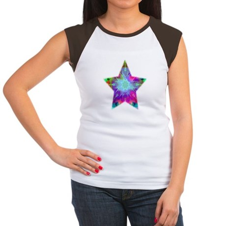 Colorful Star Women's Cap Sleeve T-Shirt