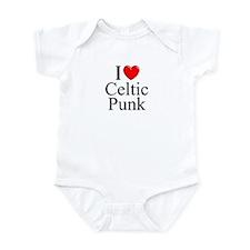 """""""I Love (Heart) Celtic Punk"""" Infant Bodysuit"""