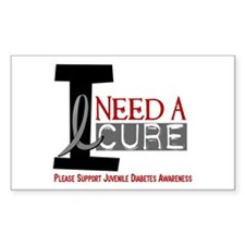 I Need A Cure JUVENILE DIABETES Decal