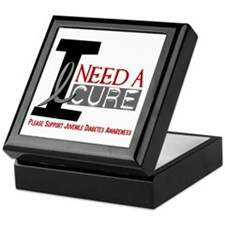 I Need A Cure JUVENILE DIABETES Keepsake Box
