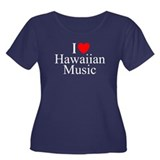 """I Love (Heart) Hawaiian Music"" T"