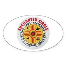 New Mexico's Enchanted Circle Oval Decal