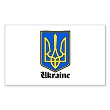 Ukraine: Heraldic Rectangle Decal