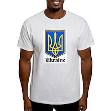 Ukraine: Heraldic Ash Grey T-Shirt