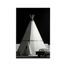 Wigwam Motel Rectangle Magnet