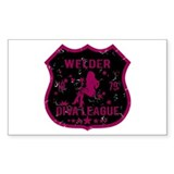 Welder Diva League Rectangle Decal