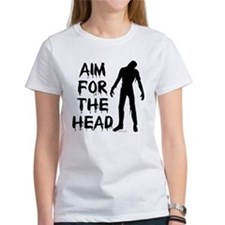 Aim For The Head Zombie Tee