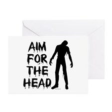 Aim For The Head Zombie Greeting Cards (Pk of 10)