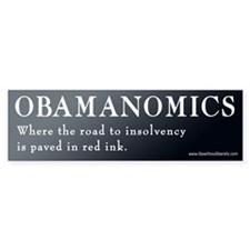 Obamanomics Involvency Bumper Bumper Sticker