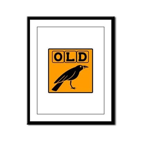 Old Crow Framed Panel Print
