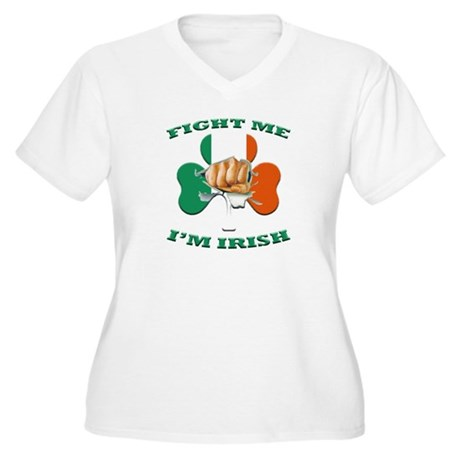 St. Patrick's Day - Fight Me I'm Irish Women's Plu