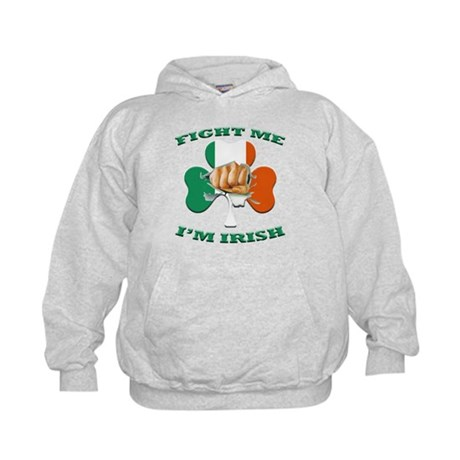 St. Patrick's Day - Fight Me I'm Irish Kids Hoodie