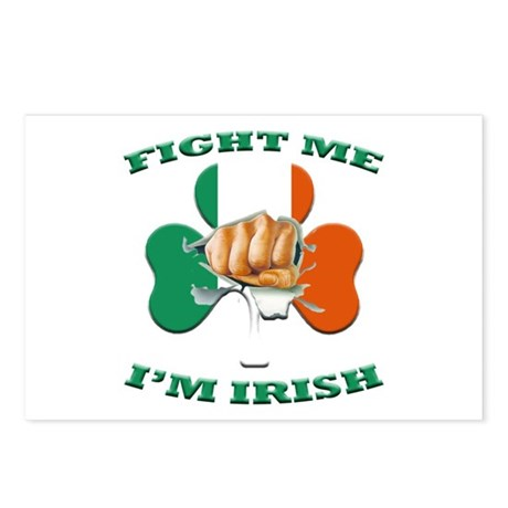 St. Patrick's Day - Fight Me I'm Irish Postcards (