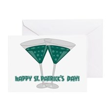 Irish Martini Greeting Card