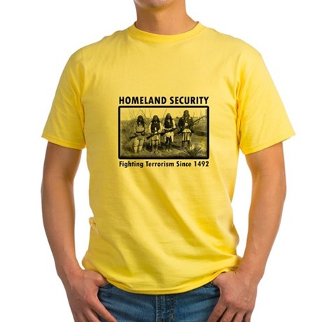 Homeland Security Indians Yellow T-Shirt