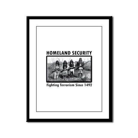 Homeland Security Indians Framed Panel Print