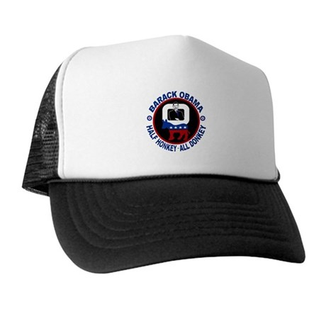Barack Obama - Half Honkey, All Donkey Trucker Hat