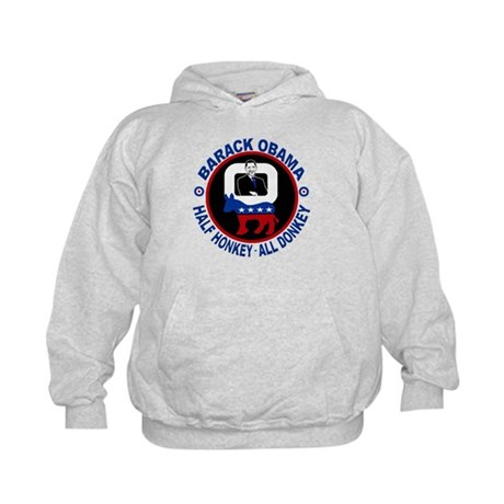 Barack Obama - Half Honkey, All Donkey Kids Hoodie