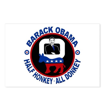 Barack Obama - Half Honkey, All Donkey Postcards (