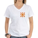 Orange Jack Women's V-Neck T-Shirt