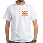 Orange Jack White T-Shirt