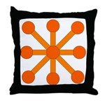 Orange Jack Throw Pillow