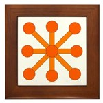 Orange Jack Framed Tile