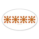 Orange Jacks Oval Sticker (10 pk)