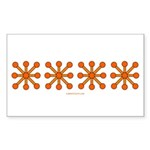 Orange Jacks Rectangle Sticker 50 pk)