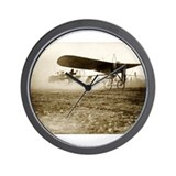 Funny Airplane photography Wall Clock