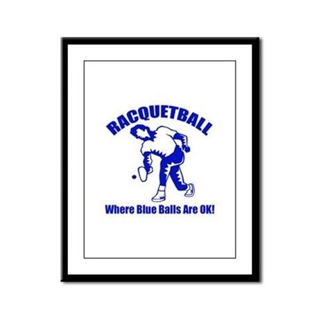 Racquetball Framed Panel Print