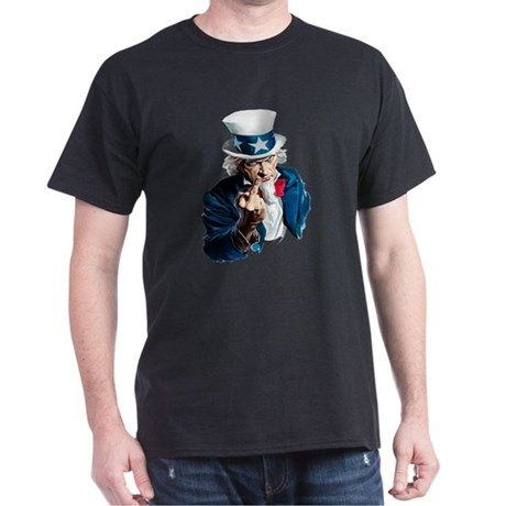 Uncle Sam Middle Finger Dark T-Shirt