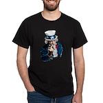 Uncle Sam Middle Finger Dark T-Shirt