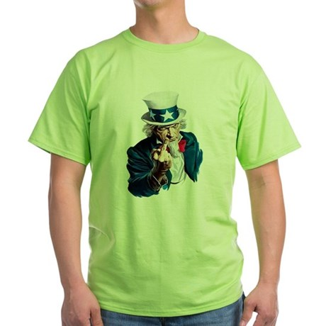 Uncle Sam Middle Finger Green T-Shirt