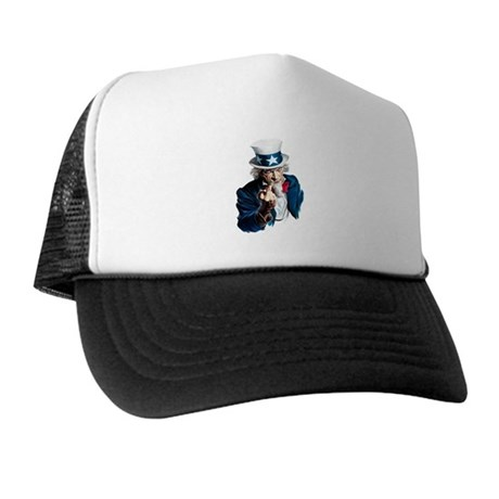 Uncle Sam Middle Finger Trucker Hat