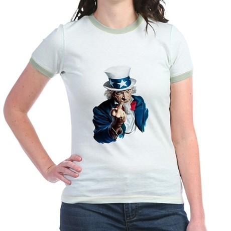 Uncle Sam Middle Finger Jr. Ringer T-Shirt