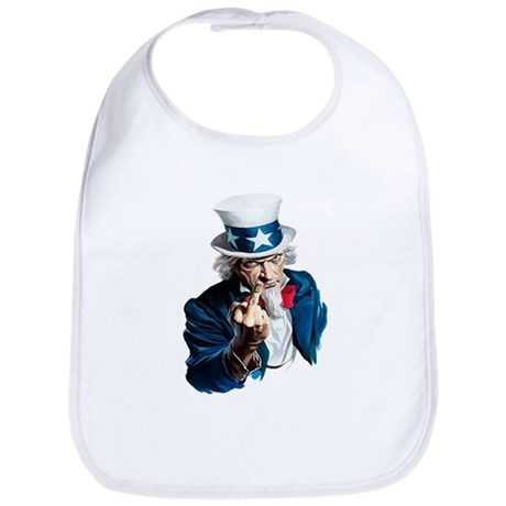 Uncle Sam Middle Finger Bib