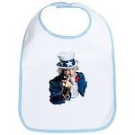 Uncle Sam Middle Finger Bib