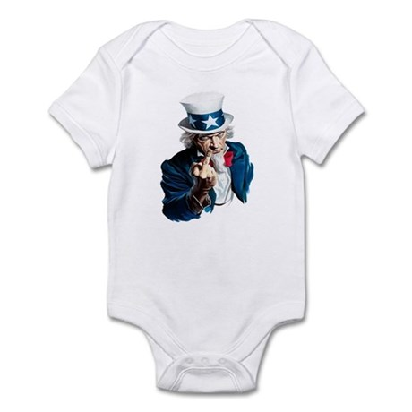 Uncle Sam Middle Finger Infant Bodysuit