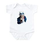 Uncle Sam Middle Finger Infant Bodysuit