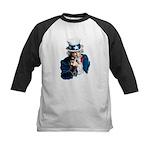 Uncle Sam Middle Finger Kids Baseball Jersey