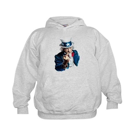 Uncle Sam Middle Finger Kids Hoodie