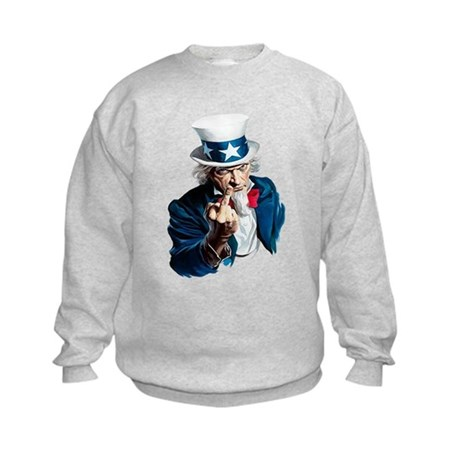 Uncle Sam Middle Finger Kids Sweatshirt