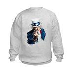 Uncle Sam Middle Finger Kids Sweatshirt