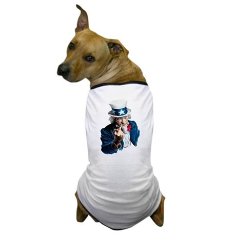 Uncle Sam Middle Finger Dog T-Shirt