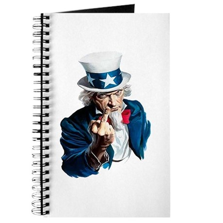 Uncle Sam Middle Finger Journal