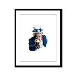 Uncle Sam Middle Finger Framed Panel Print