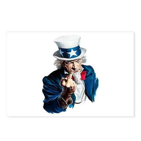 Uncle Sam Middle Finger Postcards (Package of 8)